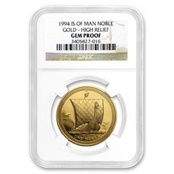 1994 Isle of Man 1 oz PR Gold Noble High Relief Gem Proof NGC