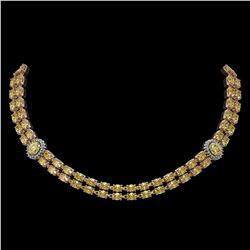 4.12 ctw Canary Citrine & Diamond Ring 14K White Gold