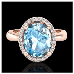 0.40 ctw Intense Fancy Yellow Diamond Art Deco Ring 18K White Gold