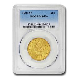 1906-O $10 Liberty Gold Eagle MS-63+ PCGS