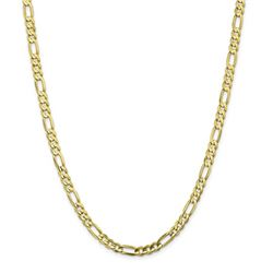 10k Yellow Gold 5.5 mm Light Concave Figaro Chain - 26 in.