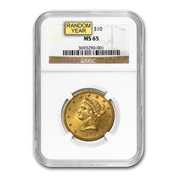 $10 Liberty Gold Eagle MS-65 NGC (Random)