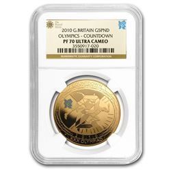 2010 Great Britain Gold £5 Sovereign London Olympics PF-70 NGC