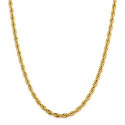10k Yellow Gold 4.75 mm Semi-Solid Rope Chain - 18 in.