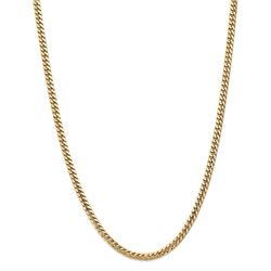 14k Yellow Gold 4.3 mm Solid Miami Cuban Chain - 22 in.