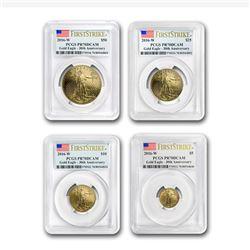 2016-W 4-Coin Proof Gold American Eagle Set PR-70 PCGS (FS)