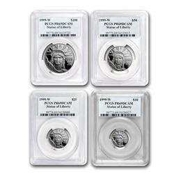 1999-W 4-Coin Proof Platinum American Eagle Set PR-69 PCGS