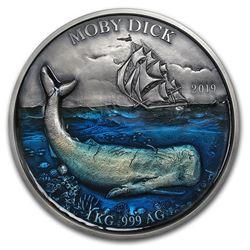 2019 Benin 1 kilo Silver 10\,000 Francs CFA Moby Dick BU