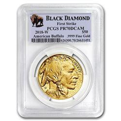 2018-W 1 oz Proof Gold Buffalo PR-70 PCGS (FS\, Black Diamond)