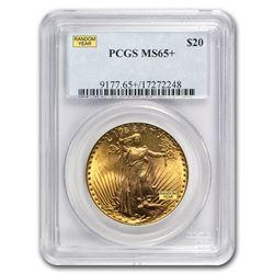 $20 Saint-Gaudens Gold Double Eagle MS-65+ PCGS (Random)