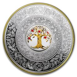 2018 Niue Silver Faberge Tree of Luck Porcelain Proof