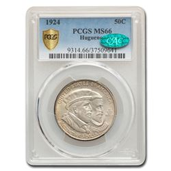 1924 Huguenot Half Dollar Commem MS-66 PCGS CAC