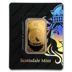 1 oz Gold Bar - Scottsdale Year of the Pig Certi-Lock®(In Assay)