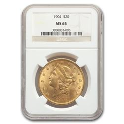 1904 $20 Liberty Gold Double Eagle MS-65 NGC