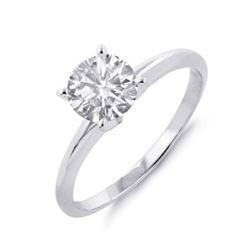 1.36 ctw VS/SI Diamond Solitaire Art Deco Necklace 18K Rose Gold