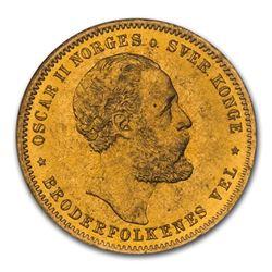 1902 Norway Gold 20 Kroner MS-65 NGC