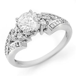 2.29 ctw Blue Sapphire & Diamond Ring 14K White Gold