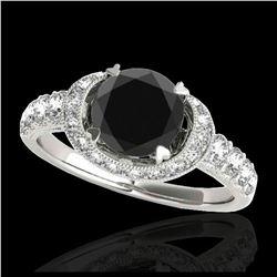 1.11 ctw SI/I Fancy Intense Yellow Diamond Ring 10K White Gold