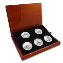 2012 5-Coin 5 oz Silver ATB Set (Elegant Display Box)