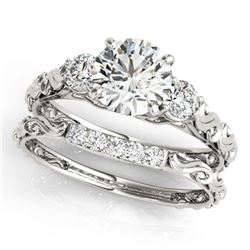 1.04 ctw Intense Blue Diamond Necklace 10K Rose Gold