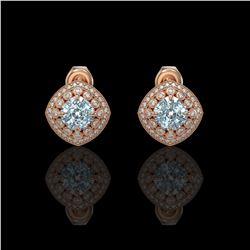 1.63 ctw Intense Fancy Yellow Diamond Art Deco Earrings 18K White Gold