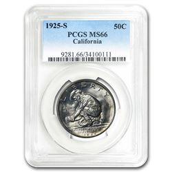 1925-S California Half Dollar MS-66 PCGS