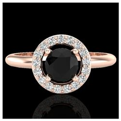 0.75 ctw VS/SI Diamond Solitaire Art Deco Stud Necklace 18K White Gold