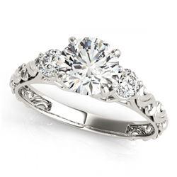 0.65 ctw Diamond & White Pearl Dolphin Necklace 14K White Gold