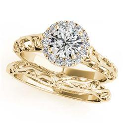 1.01 ctw H-SI/I Diamond Ring 10K White Gold