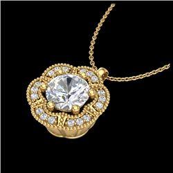 2.75 ctw Sky Blue Topaz & Diamond Necklace 18K Yellow Gold