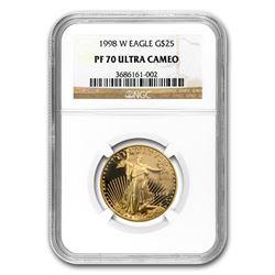 1998-W 1/2 oz Proof Gold American Eagle PF-70 NGC