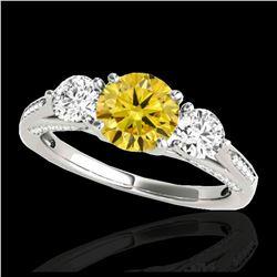 16.25 ctw Amethyst & Diamond Bracelet 14K White Gold