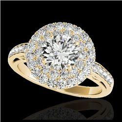 2.85 ctw SI/I Fancy Intense Yellow Diamond Ring 10K White Gold