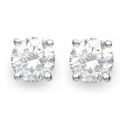 5.1 ctw Ruby & Diamond Earrings 14K Rose Gold