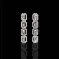 5 ctw Amethyst & VS/SI Diamond Earrings 14K Rose Gold