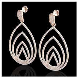 2.25 ctw Aquamarine & Diamond Necklace 14K Rose Gold