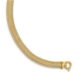 14k Yellow Gold Fancy Link Bracelet - 7 in.