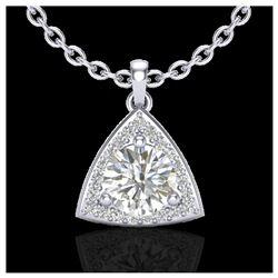 4.50 ctw Garnet & VS/SI Diamond Ring 18K White Gold