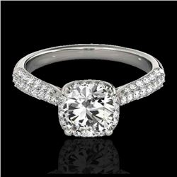 2 ctw H-SI/I Diamond Bypass Solitaire Ring 10K White Gold