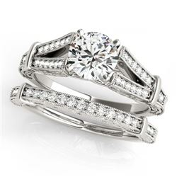 1.25 ctw VS/SI Diamond Ring 18K White Gold