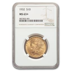 1932 $10 Indian Gold Eagle MS-63+ NGC