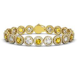 8.0 ctw Tanzanite Bracelet 14K White Gold
