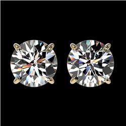 4 ctw Emerald & VS/SI Diamond Earrings 18K Yellow Gold