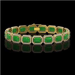 3.50 ctw Sapphire & VS/SI Diamond Heart Necklace 14K Yellow Gold