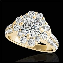 2.5 ctw Princess VS/SI Diamond 3 Stone Ring 18K White Gold