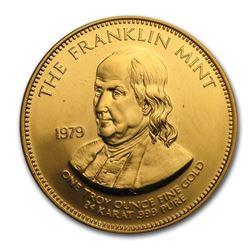 1 oz Gold Round - The Franklin Mint (Random Motif)