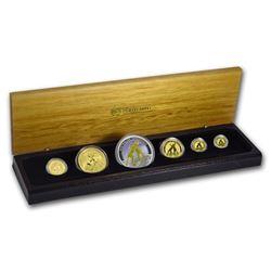 2010 Australia 6-Coin Gold & Silver Kangaroo Prestige Set BU