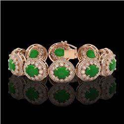 7.94 ctw Morganite & Diamond Earrings 14K Rose Gold