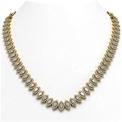 9.02 ctw Multi-Sapphire & Diamond Necklace 10K White Gold