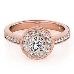2.50 ctw Fancy Black Diamond Solitaire Ring 10K Rose Gold